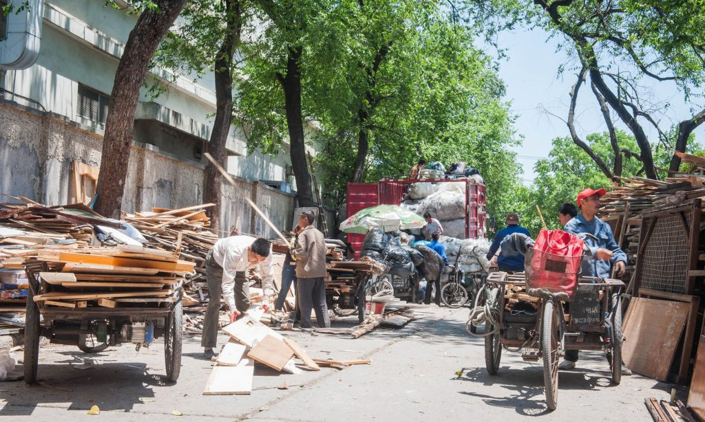 Chinese waste collectors rely on informal recycling for livelihood.