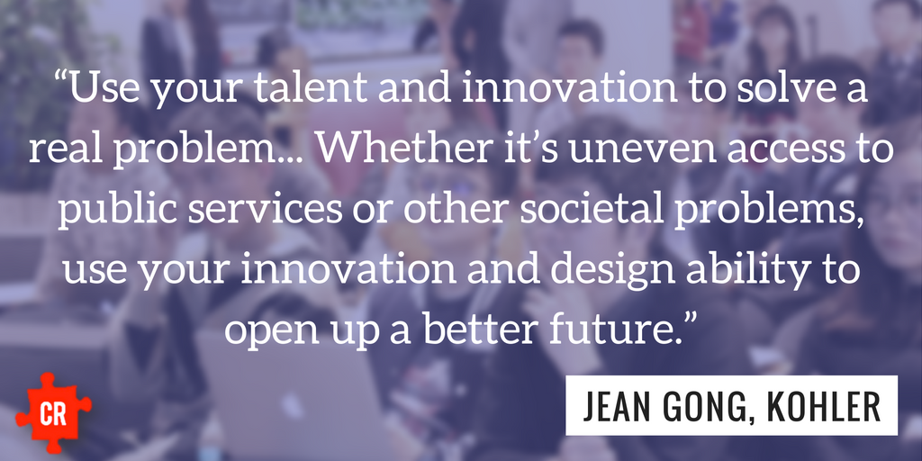 Kohler Jean Gong Toilets Hackathon Quote - Collective Responsibility