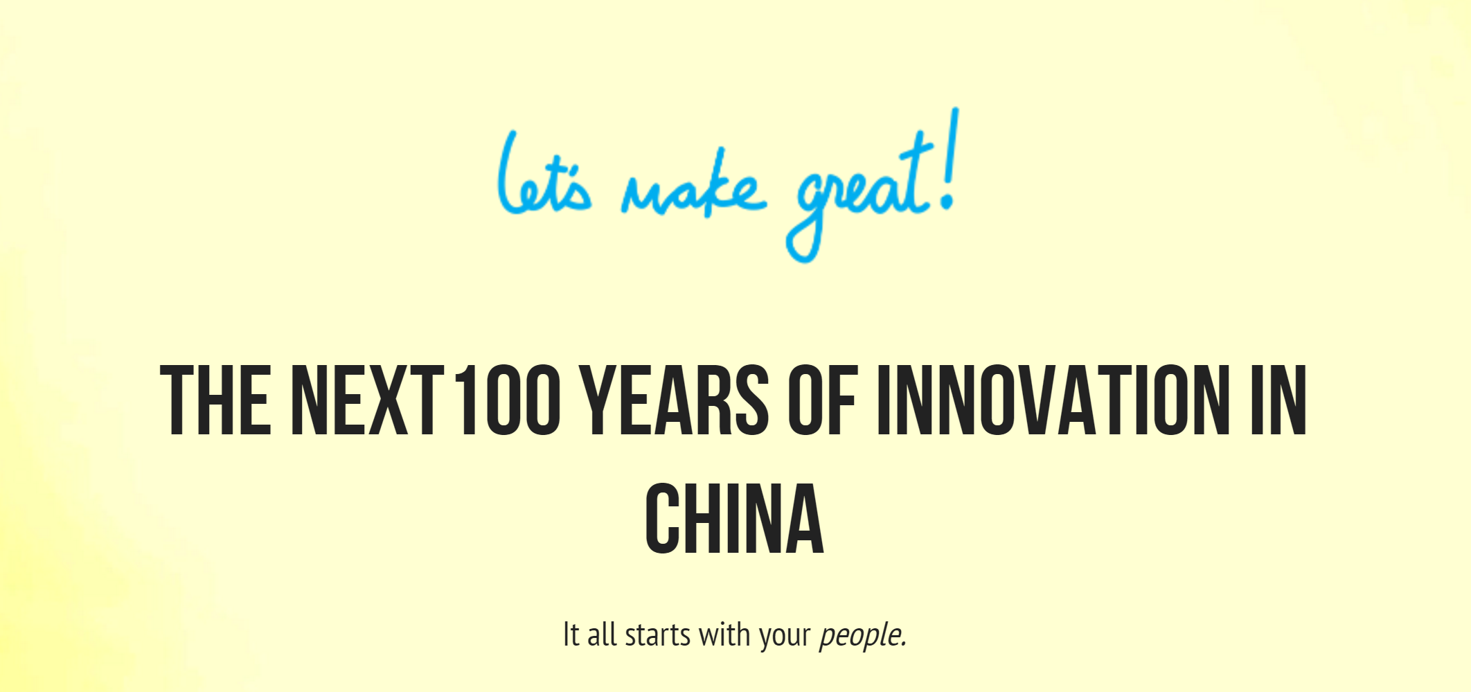 Brian Tam's innovative company -- Let's Make Great!